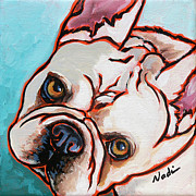 Nadi Spencer Painting Metal Prints - French Bulldog Metal Print by Nadi Spencer