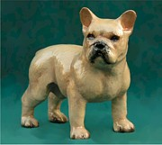 Dogs Ceramics Originals - French Bulldog by Ron Hevener