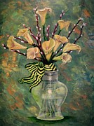 Stripped Paintings - French Calla Lilies by Osborne Lorlinda