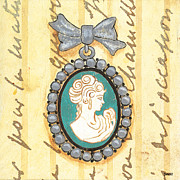 Teal Prints - French Cameo 1 Print by Debbie DeWitt