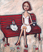 Seat Paintings - French Chics by Denise Daffara