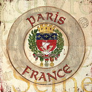 Vintage Paris Metal Prints - French Coat of Arms Metal Print by Debbie DeWitt