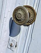 Doorknob Prints - French Doorknob Print by Marion McCristall
