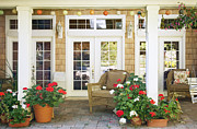 French Doors Metal Prints - French Doors and Patio Metal Print by Andersen Ross