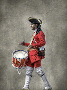 French Revolution Prints - French Drummer Fort Ligonier Pennsylvania Print by Randy Steele