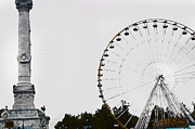 Bordeaux Framed Prints - French Ferris Wheel Framed Print by Laura Olson