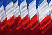 Abstractions - French Flag Abstract by Robert Ullmann