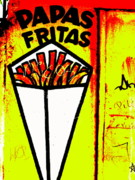 Street Art Prints - French Fries Santiago Style  Print by Funkpix Photo Hunter