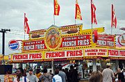 Street Fairs Prints - French Fries Print by Skip Willits