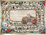 French Revolution Posters - French Game Board, 1791 Poster by Granger