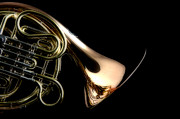 French Horn Prints - French Horn Isolated Print by M K  Miller