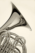 Perform Art - French Horn Isolated On White by M K  Miller