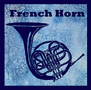 Marching Band Framed Prints - French Horn Framed Print by Jenny Armitage