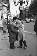 Embracing Prints - French Kiss Print by Thurston Hopkins