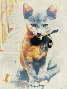Tabby Art - French Kitten by Karen Lewis