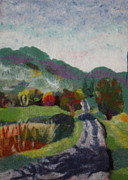 Felted Tapestries - Textiles Prints - French Landscape Print by Nicole Besack