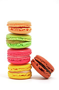 Medium Group Of Objects Posters - French Macaroons Poster by Ursula Alter