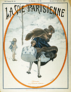Parisienne Painting Prints - French Magazine Cover Print by Granger