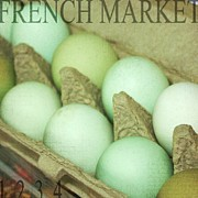 Eggs Digital Art Posters - French Market Eggs Poster by Cathie Tyler