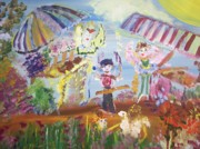 Bread Paintings - French Market Fairies by Judith Desrosiers