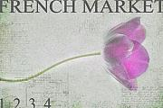 Tulips Art - French Market Series D by Rebecca Cozart