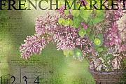 French Market Posters - French Market Series M Poster by Rebecca Cozart