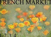 Poppies Art - French Market Series Q by Rebecca Cozart