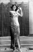 Bare Midriff Photos - French Postcard, Circa 1900-1910 by Everett