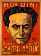 Harry Houdini Photos - French Poster Advertising Harry by Everett