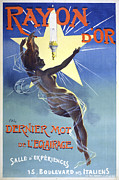 Gaslight Posters - French Poster Showing A Nude Woman Poster by Everett