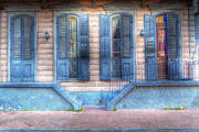 French Door Prints - French Quarter 4 - New Orleans Print by Steve Sturgill