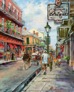 Louisiana Artist Paintings - French Quarter Antiques by Dianne Parks