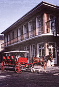 Horse And Buggy Posters - French Quarter Buggy NOLA Poster by Federico Arce