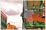 French Signs Originals - French Quarter Cigar Factory by Mark Daggett