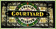 French Signs Art - French Quarter Courtyard by Leslie Revels Andrews