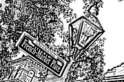 Photocopy Prints - French Quarter French Market Street Sign New Orleans Photocopy Digital Art Print by Shawn OBrien