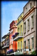 Louisiana Digital Art Framed Prints - French Quarter in Summer Framed Print by Tammy Wetzel