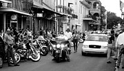 Cop Cars Posters - French Quarter Street Scene Poster by Kate Purdy