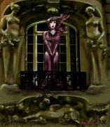 Vampires Digital Art - French Quarter Vamp by Kim Souza