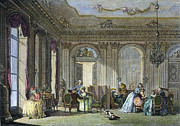 18th Century Photos - French Salon, 18th Century by Granger