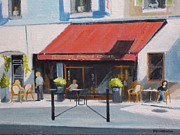Brasserie Paintings - French Sidewalk Cafe by Robert Rohrich