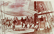 Slave Ship Framed Prints - FRENCH SLAVE SHIP, 18th CENT Framed Print by Granger