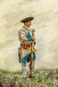 Frontier Art Mixed Media Prints - French Soldier French and Indian War Print by Randy Steele