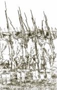 French Revolution Prints - French Soldiers Sketch Print by Randy Steele