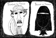 Thedailydose.com Drawings Originals - French solutions to Arab problems by Yasha Harari