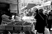 Black Olives Framed Prints - French Street Market Framed Print by Sebastian Musial