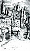 Ancient Pastels Prints - French Village Print by Dan Earle