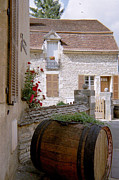 Wine Cellar Photos - French Wine by Christine Burdine