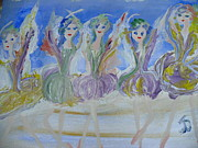 Stage Painting Originals - French winter ballet by Judith Desrosiers