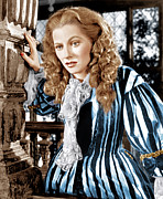 Striped Dress Art - Frenchmans Creek, Joan Fontaine, 1944 by Everett
